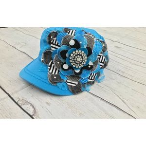 Women's Frayed Boutique Flower Cadet Hat